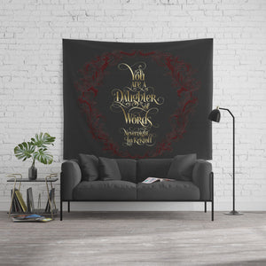 You are a daughter of words. Nevernight Quote Wall Tapestry - LitLifeCo.