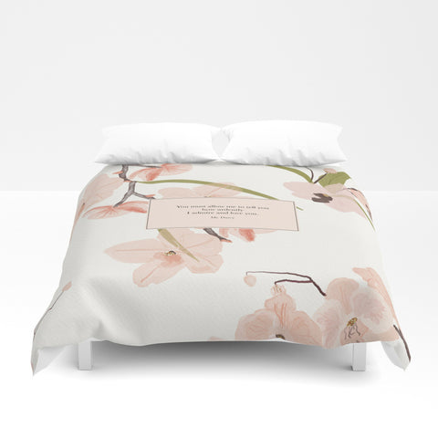 You must allow me... Mr. Darcy Quote Duvet Cover