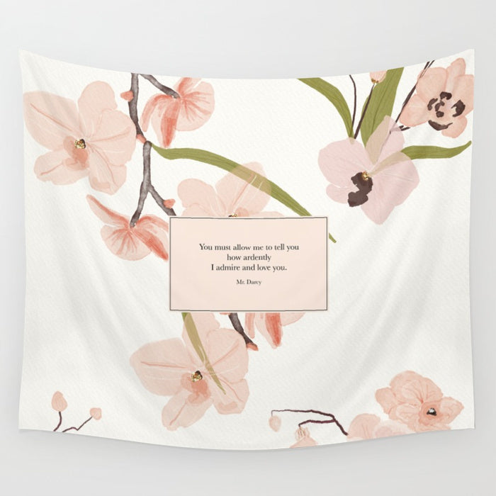 You must allow me to tell you... Mr. Darcy Quote Wall Tapestry - LitLifeCo.