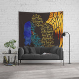 Your soul sings to mine... Daughter of Smoke and Bone Quote Wall Tapestry