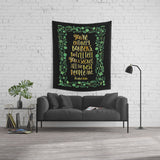 You're entirely bonkers... Alice in Wonderland Quote Wall Tapestry