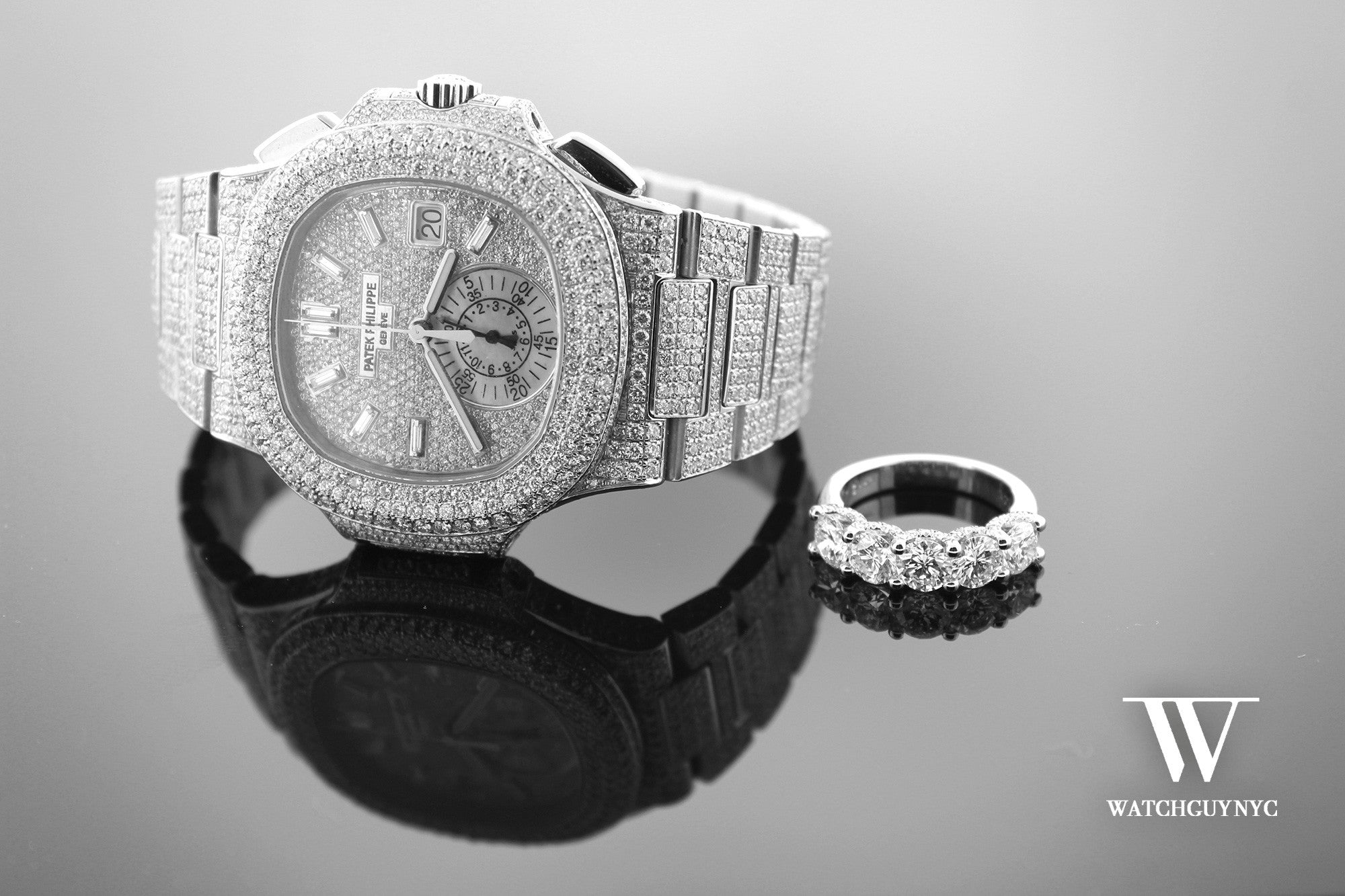 Custom Design Diamond Bezel Dial Watches New York NYC | WatchGuyNYC Rolex Patek Audemars