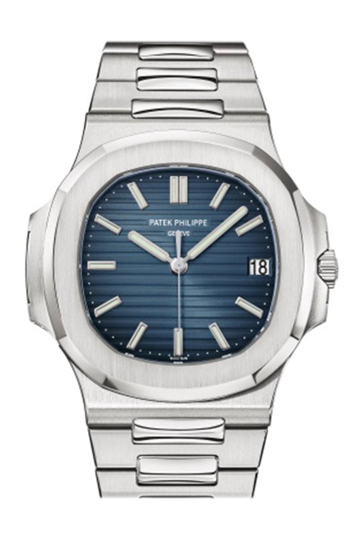 Patek Philippe Nautilus Blue Dial Stainless Steel Mens Watch 5711/1A-010