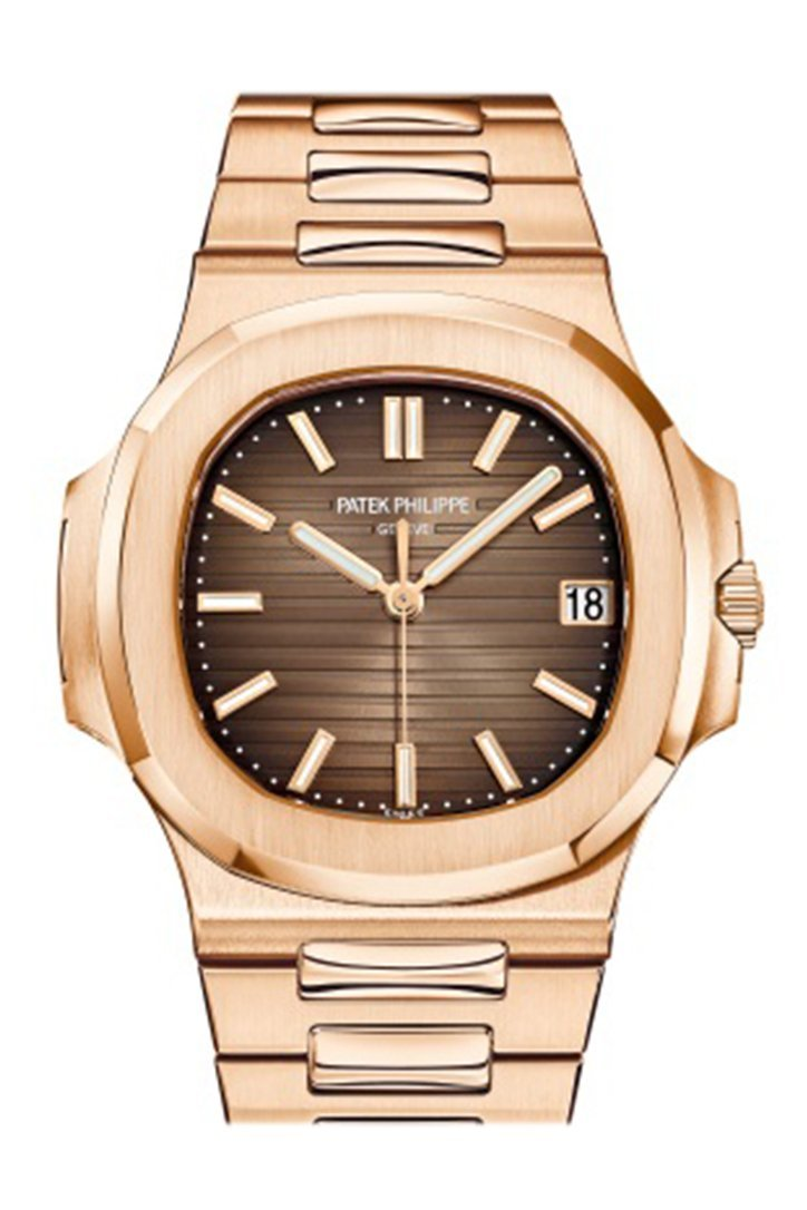 Patek Philippe Nautilus Brown Dial 18K Rose Gold Automatic Mens Watch 5711/1R-001