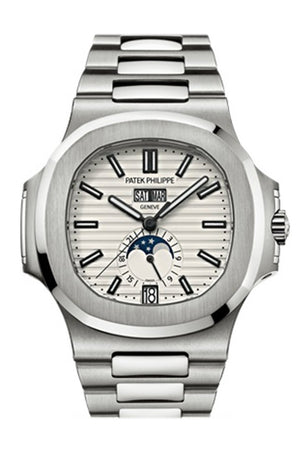 Patek Philippe Nautilus Gold White Dial Mens Watch 5726/1A-010