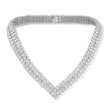 18K White Gold VS Diamond 8.10CT Necklace Jewelry