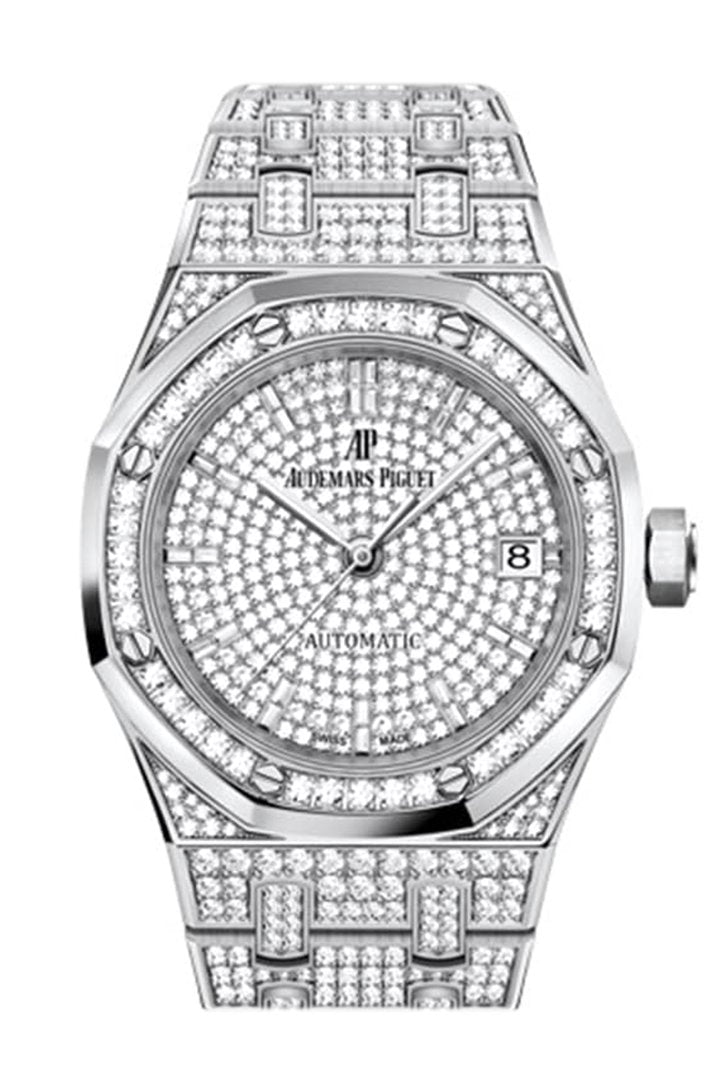 Audermars Piguet Royal Oak Pave Dial Jumbo Extra Thin White Gold 15202Bc.zz.1241Bc.01 Watch
