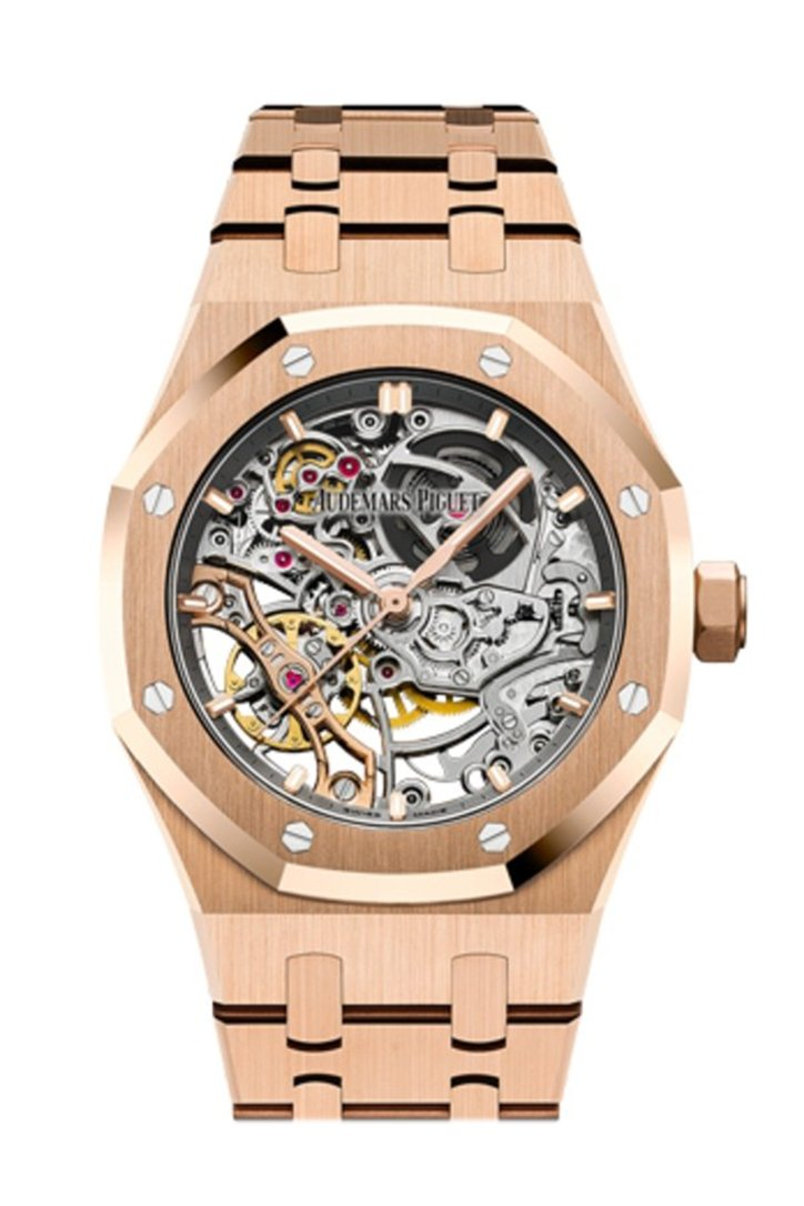 Audemars Piguet Royal Oak Double Balance Wheel Openworked Rose Gold Watch 15467Or.oo.1256Or.01