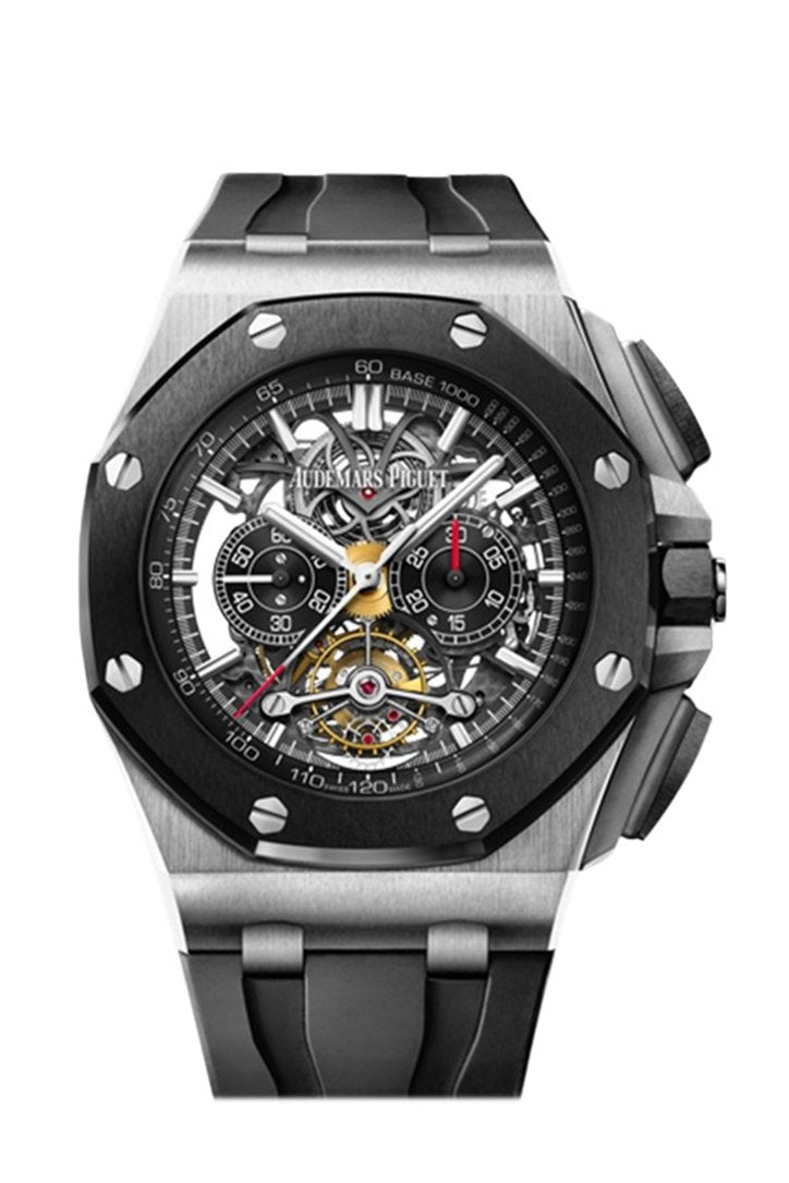 Audemars Piguet Royal Oak Offshore Black Dial 18kt Rose Gold Black Rubber Chronograph Men's Watch 26178OK.OO.D002CA.01