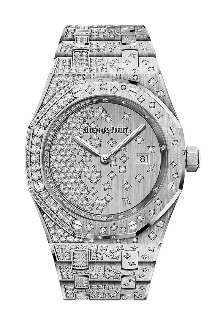 Audemars Piguet Royal Oak Ladies 18K White Gold Diamond Watch 67654BC.ZS.1264BC.01