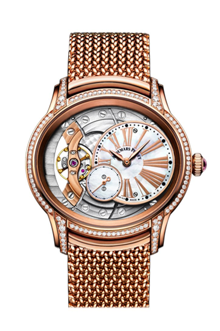 Audemars Piguet Millenary Mother Of Pearl Dial Ladies 18Kt Rose Gold Hand Wound Watch