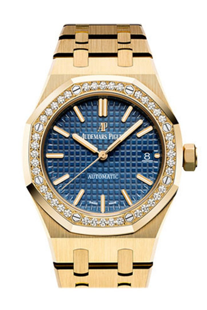 Audemars Piguet Royal Oak Lady 33mm Smoked blue Dial Diamond White Steel Ladies Watch 67651IP.ZZ.1261IP.01