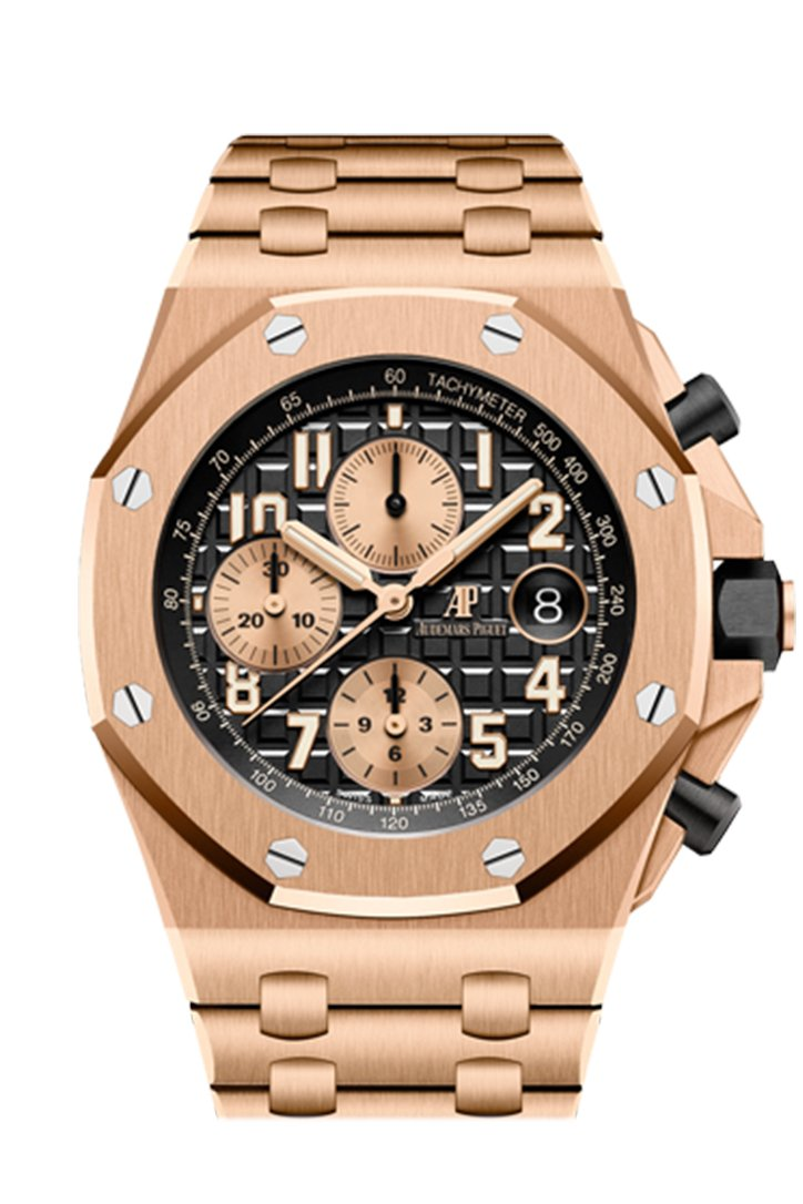 Audemars Piguet Royal Oak Offshore Chronograph Rose Gold 42Mm Watch 26470Or.oo.1000Or.03