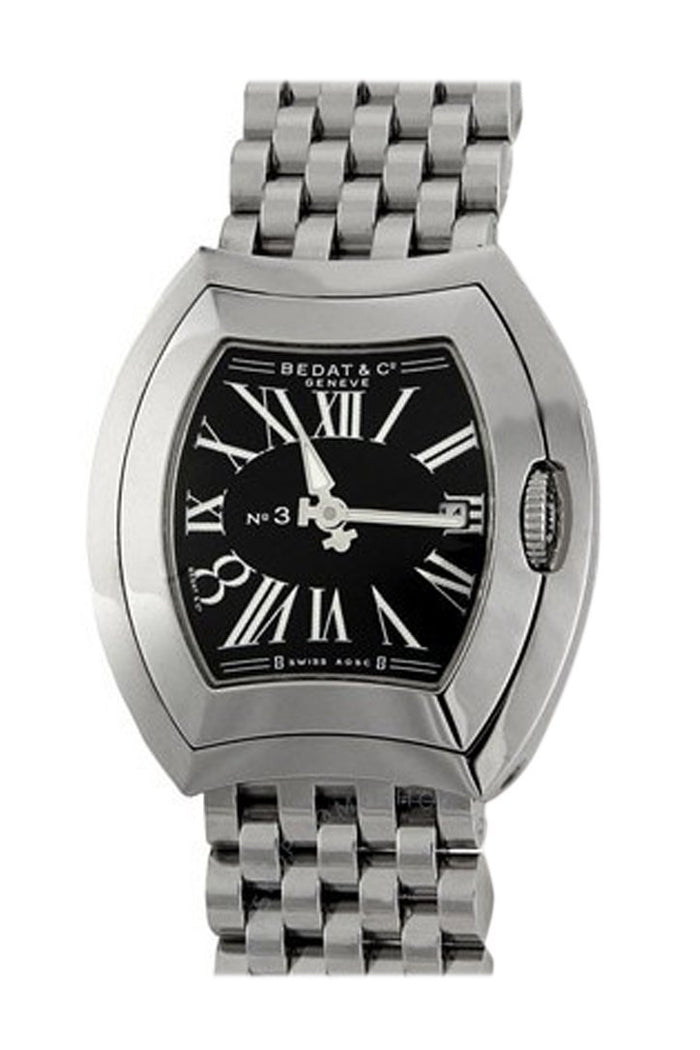 Bedat No. 3 Steel Black Ladies Watch 334.011.301