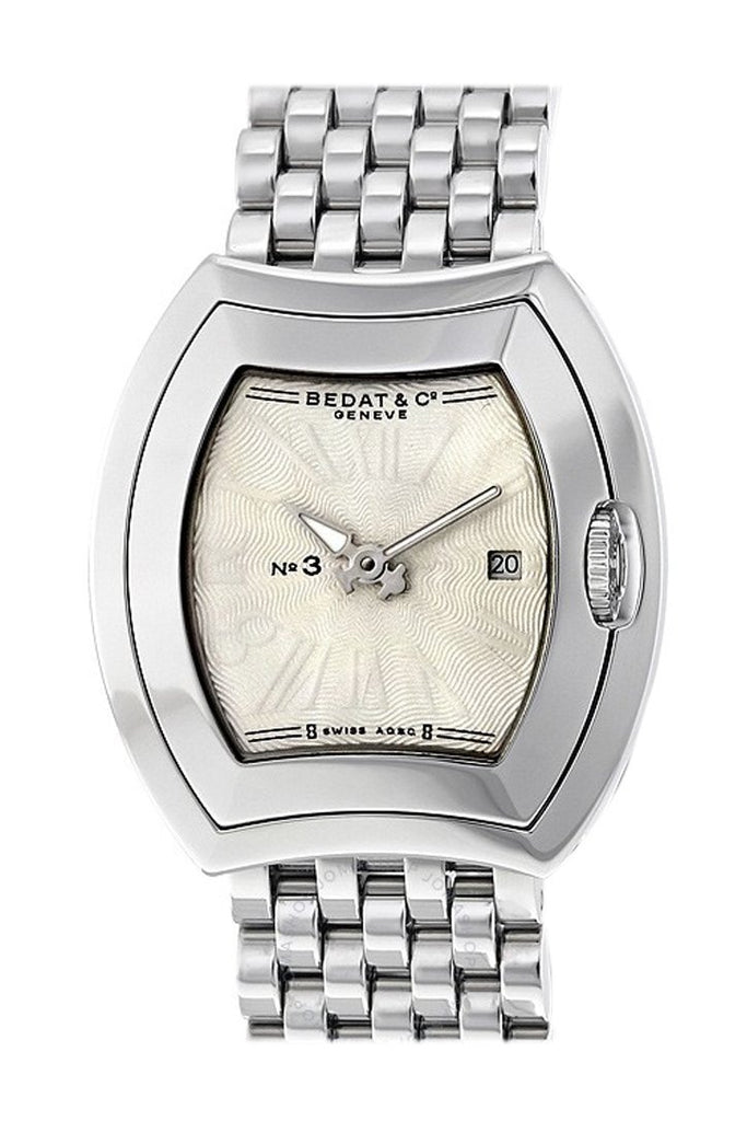 Bedat No 3 Silver Dial Stainless Steel Ladies Watch 334.011.100