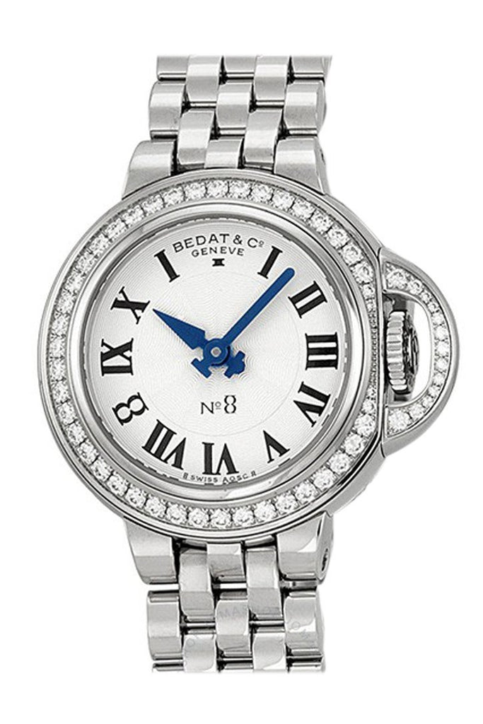 Bedat No. 8 Silver Dial Stainless Steel Diamond Ladies Watch 827.041.600