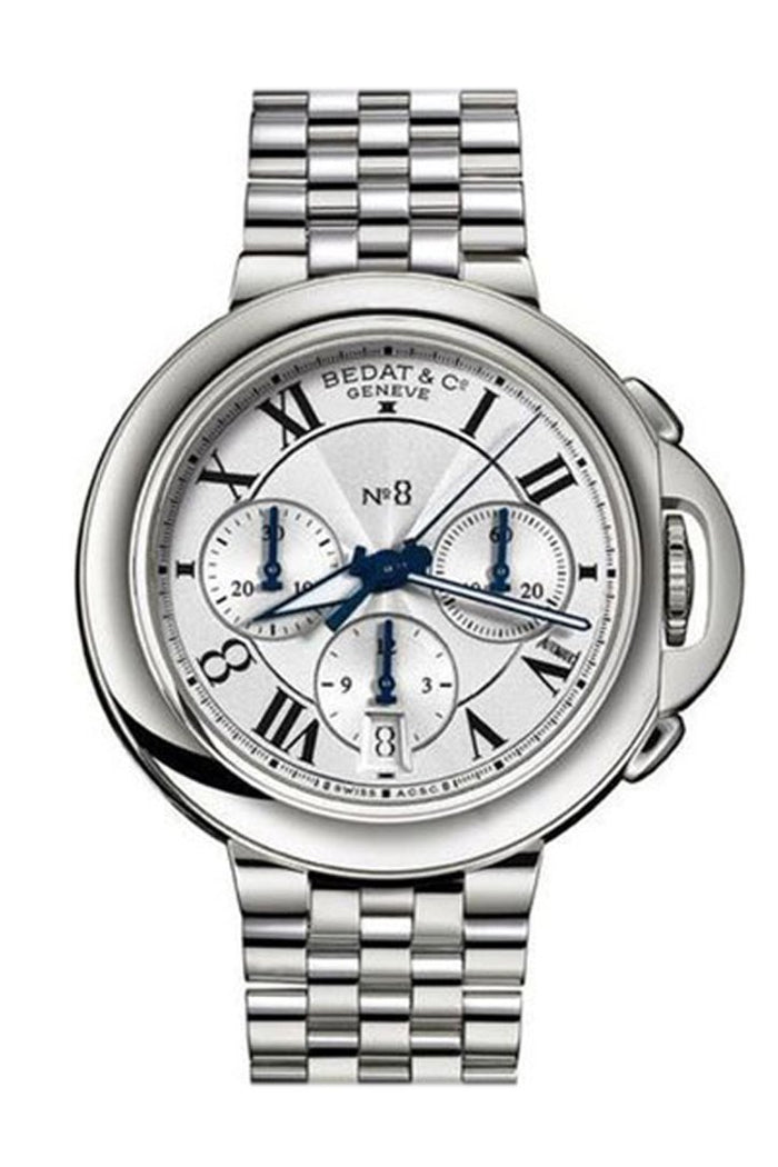 Bedat No. 8 Chronograph in Steel Silver Dial 830.011.101