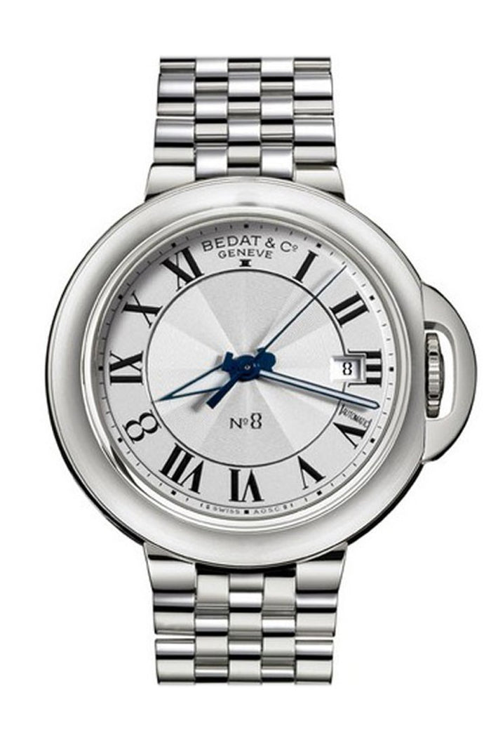 Bedat c No. 8 in Steel on Steel Bracelet with Silver Dial 831.011.100