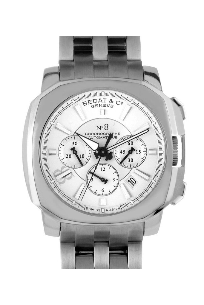 Bedat No. 8 Silver Dial Chronograph Stainless Steel Automatic Mens Watch 867.011.111