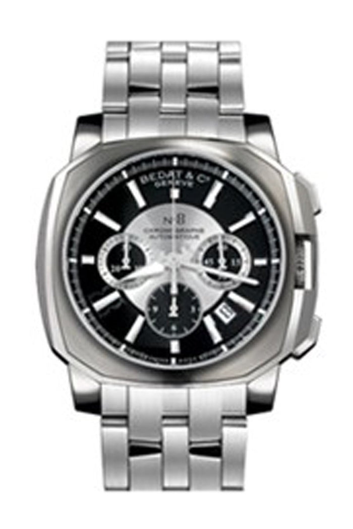 Bedat No 8 Black and Silver Dial Stainless Steel Men's Watch 867.011.311