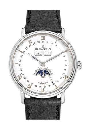 Blancpain Villeret Moonphase And Complete Calender 6654-1127-55B White Watch