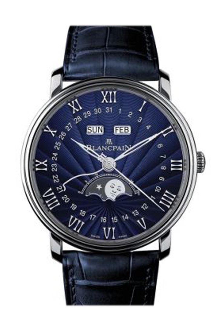Blancpain Villeret Moonphase And Complete Calender White Gold 6654-1529-55B Watch