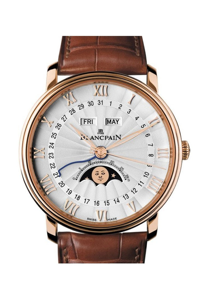 Blancpain Villeret Moonphase and Complete Calender Rose Gold 6664-3642-55B