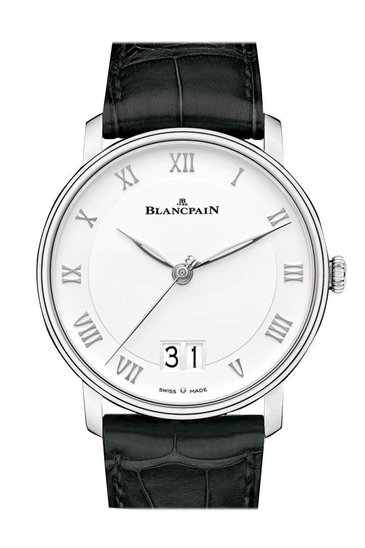 Blancpain Grande Date White Dial Automatic Mens Watch 6669-1127-55B