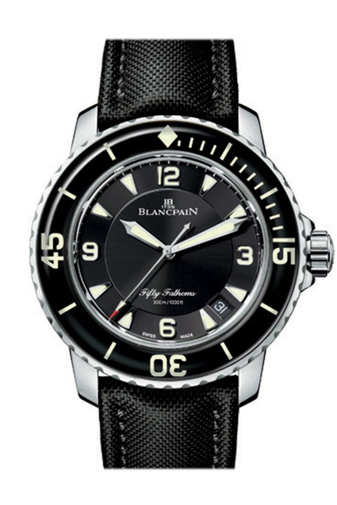 Blancpain Fifty Fathoms Automatique Black Dial Mens Watch 5015-1130-52