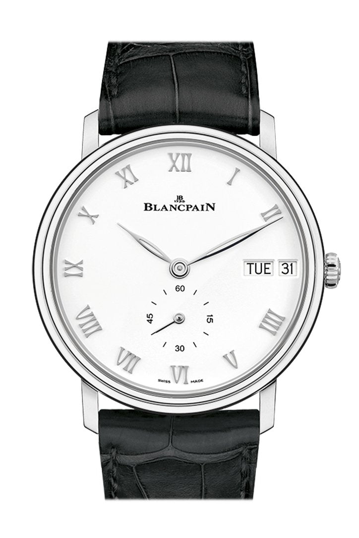 Blancpain Villeret Ultra Slim Automatic White Dial Mens Watch 6652-1127-55B