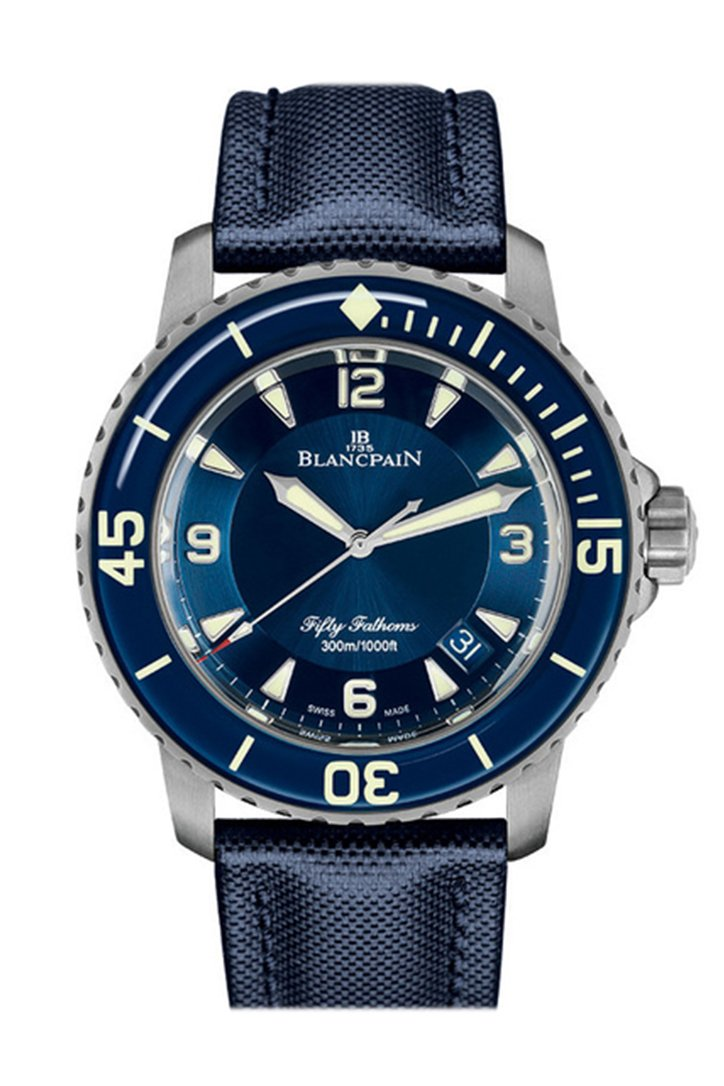 Blancpain Fifty Fathoms Automatic Blue Dial Mens Watch 5015-12B40-O52A