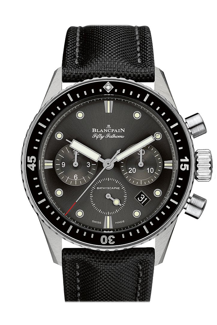 Blancpain Fifty Fathoms Bathyscaphe Meteor Grey Dial Chonograph Automatic Mens Watch 5200-1110-B52A