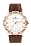 Blancpain Villeret Ultraplate Opaline Dial 18K Rose Gold Automatic Mens Watch 6104-3642-55A