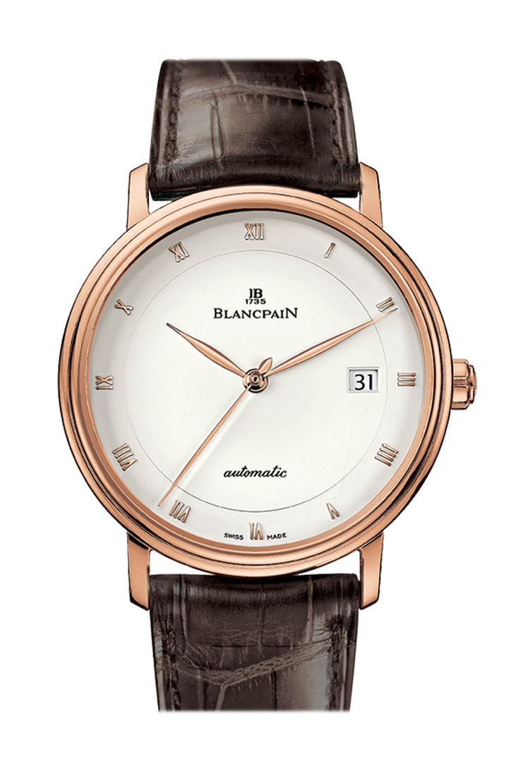 Blancpain Villeret Ultraplate Men's Opaline Dial 18K Rose Gold Automatic Watch 6223-3642-55A