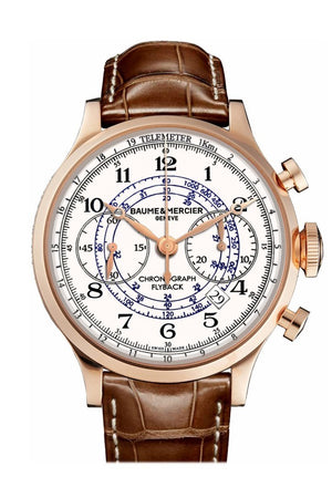Baume & Mercier Flyback Chronogragh Rose Gold 10007 White Watch