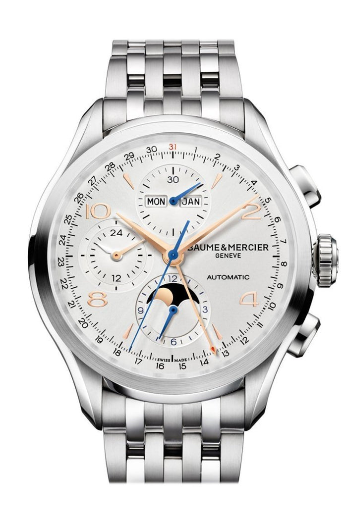 Baume & Mercier Clifton Moonphase and Complete Calender Chronogragh 10279