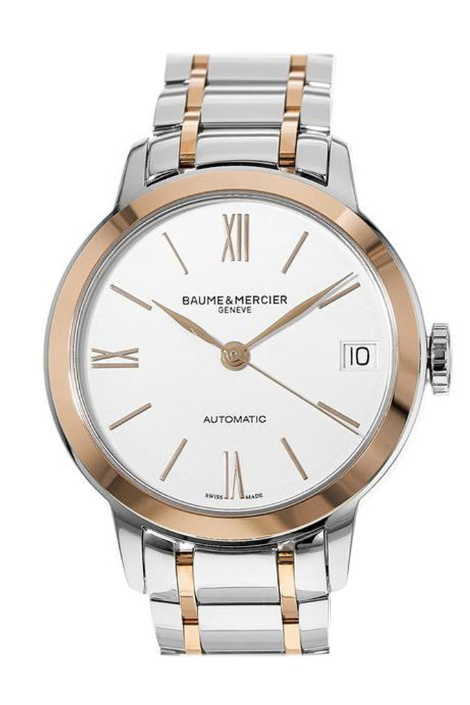 Baume & Mercier Classima Steel And Rose Gold Womens Watch 10315 Silver