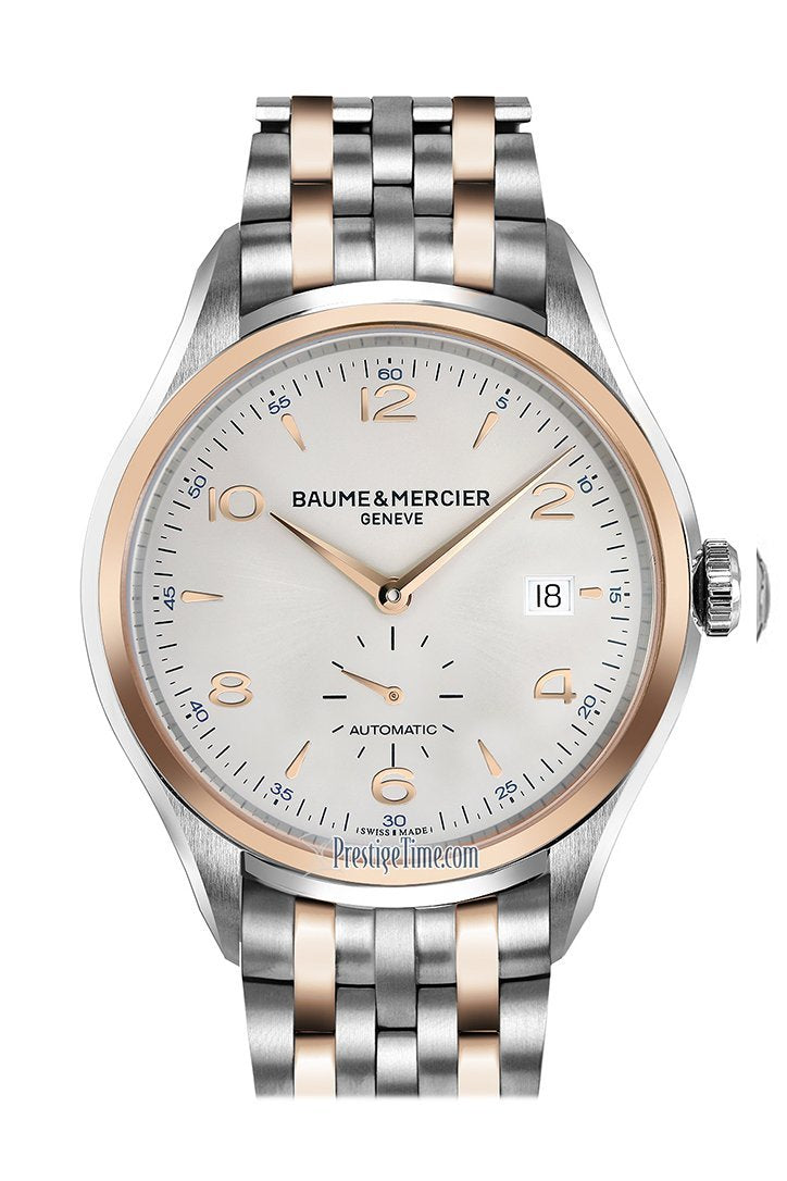 Baume & Mercier Clifton Automatic Silver Rose Gold Watch 10140