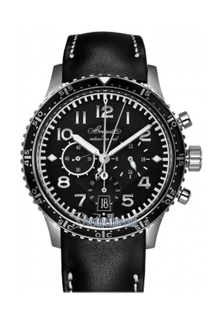 Breguet Transatlantique Type XXI Flyback Black Dial Automatic Men's Watch 3810TIH23ZU