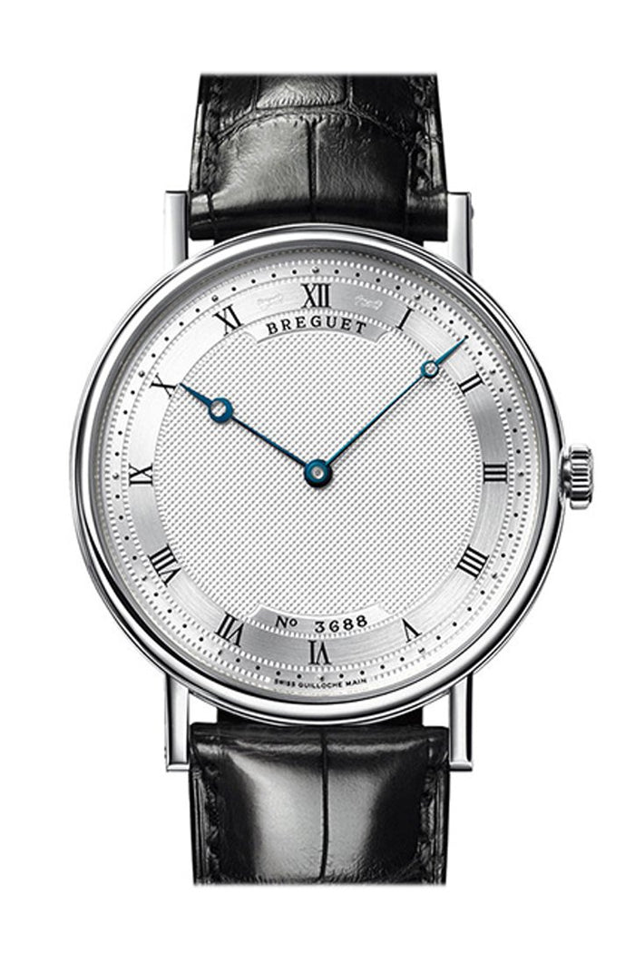 Breguet Classique Automatic Ultra Slim Silver Dial Leather Men's Watch 5157BB119V6