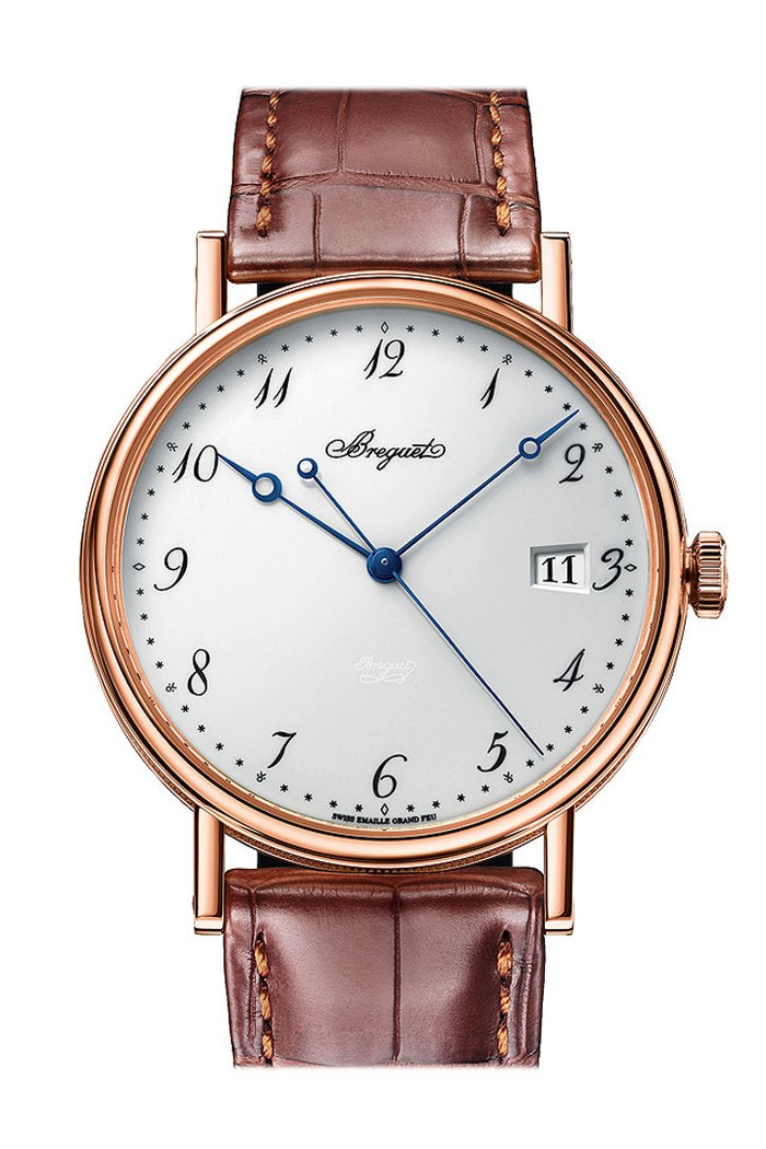 Breguet Classique Automatic White Dial Brown Leather Men's Watch 5177BR299V6