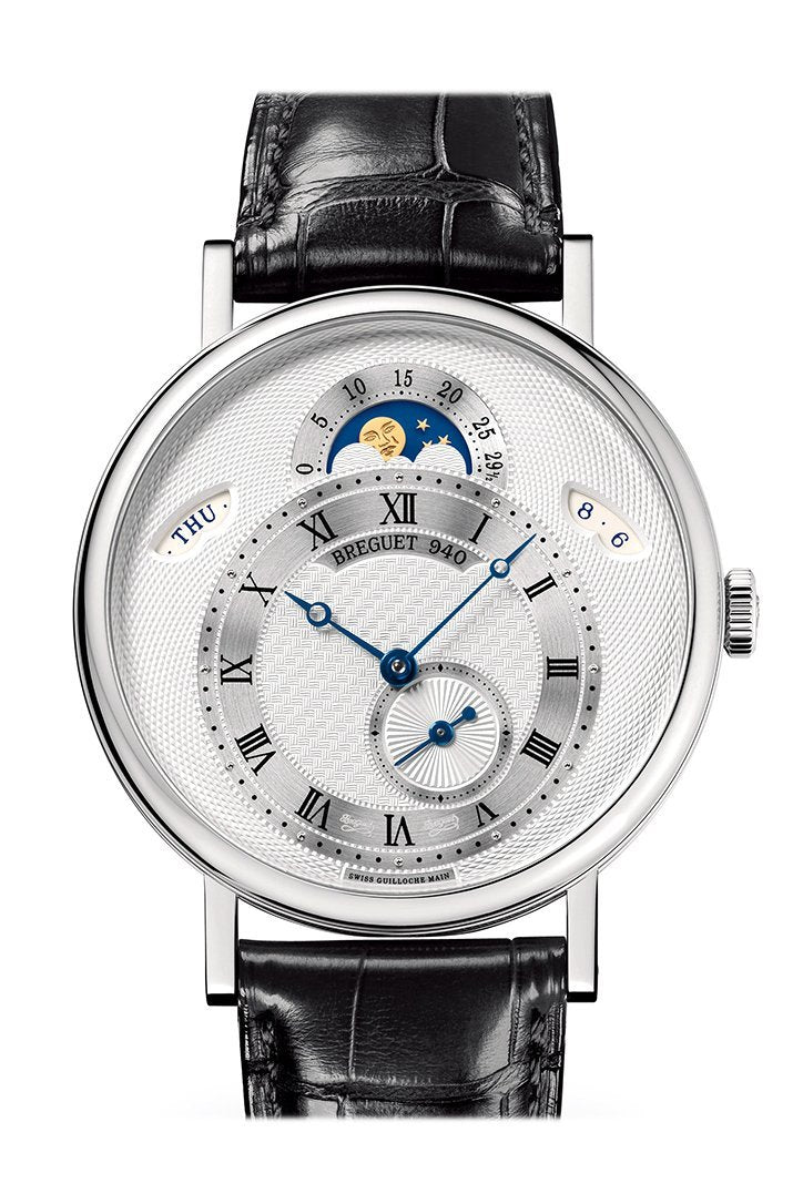 Breguet Classique Day/Date/ Moonphase 39mm in White Gold with Silver Dial 7337bb/1e/9v6