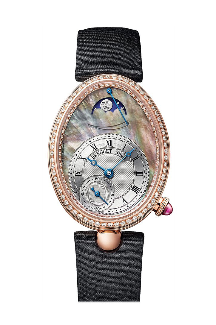 Breguet Reine de Naples Mother of Pearl Dial Rose Gold with Diamond Bezel Black 8908br5t864d00d