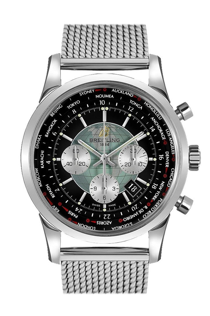 Breitling Transocean Stainless Steel 46mm Mens Watch AB0510U4.BB62.152A