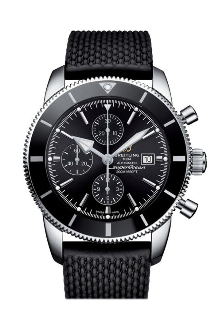 Breitling Superocean Heritage II  chrono Black Rubber Deployment A1331212