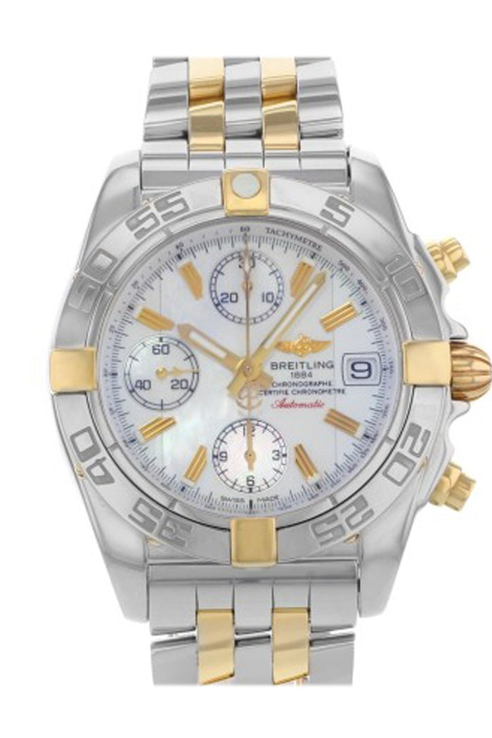Breitling Chrono Galactic White Dial Chronograph Stainless Steel Men's Watch  B13358L2 WHT STICK
