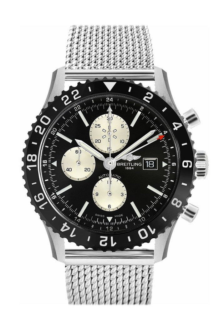 Breitling Chronoliner Stainless Steel Mens Watch Y2431012 BE10
