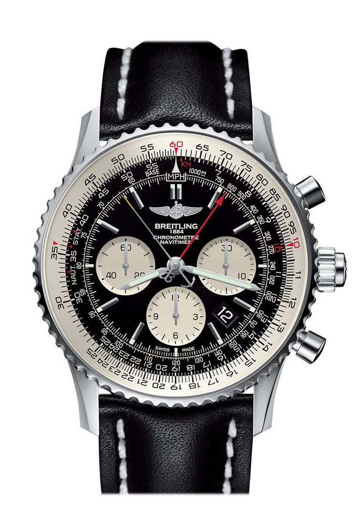 Breitling Navitimer Rattrapante Chronograph Automatic Black Dial Men's Watch AB031021