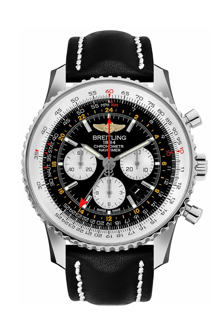Breitling Navitimer GMT Men'w Watch AB044121-BD24