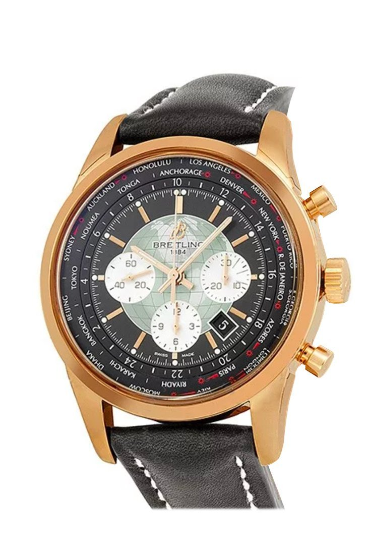 Breitling Transocean Chronogragh Unitime Rosegold Rb0510U4-Bb63 Watch